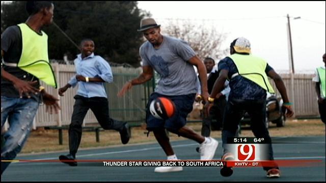 Thunder's Thabo Sefolosha Speaks About Helping Kids In Africa