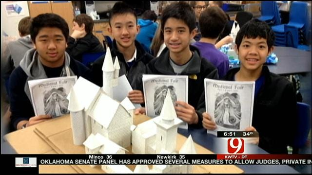 Edmond Students Learn About Castles