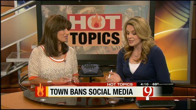 Hot Topics: Town Bans Social Media