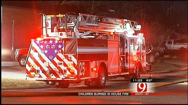 Cause Sought In SW OKC House Fire That Left 2 Children Critical