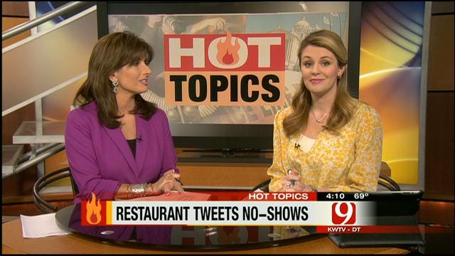 Hot Topics: Restaurant Tweets No-Shows