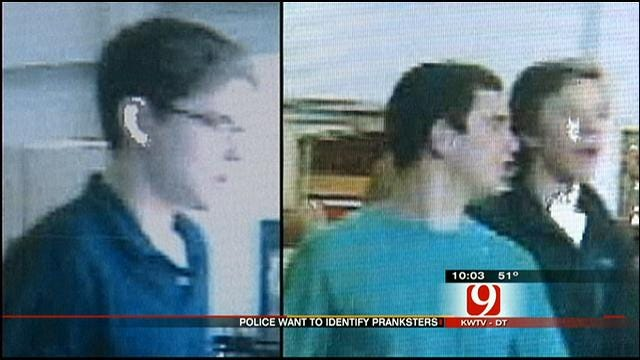 Edmond Police Seek Three In 'Milk Smash' Prank At Wal-Mart