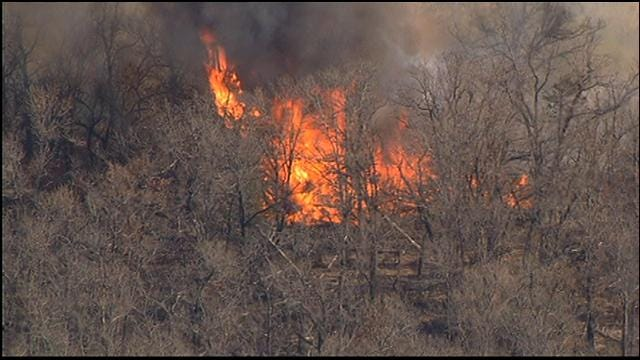 WEB EXTRA: Grass Fires Burn Near Terlton Part 3