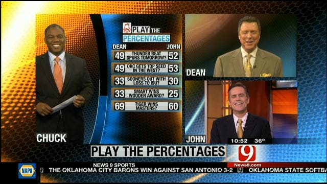 Play The Percentages-March 10
