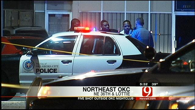 Five Injured In Shooting Outside Northeast OKC Club