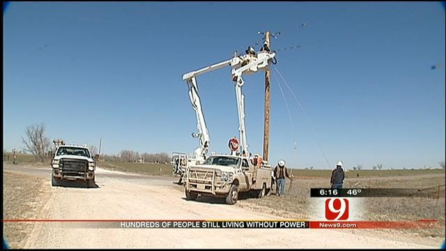 Some OK Families Still Without Power Due To Winter Storm