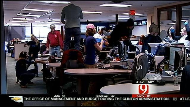News 9 Jumps Into The 'Harlem Shake' Craze