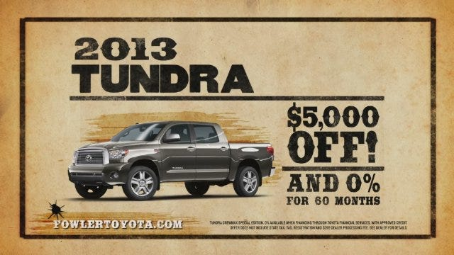 Fowler Toyota: Truck Month (Wanted)