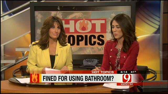 Hot Topics: Woman Fined For Using Restaurant's Restroom