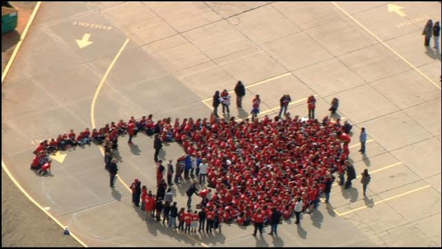 WEB EXTRA: Elementary Students Form Heart To Raise Awareness Of Kindness
