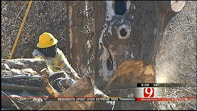 Yukon, Piedmont Residents Upset At OG&E Cutting Down Trees