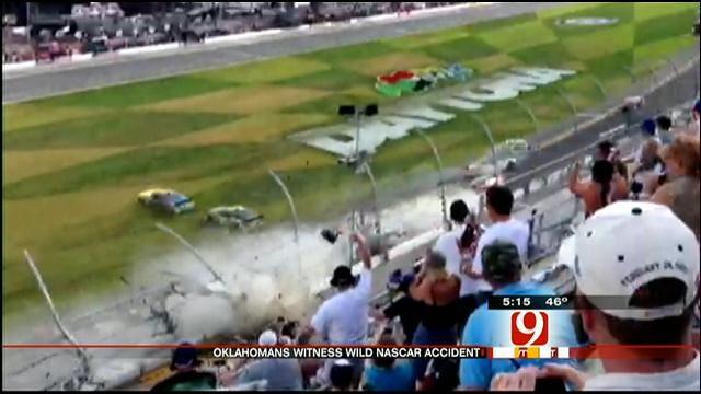Oklahoma NASCAR Fans Witness Daytona Crash