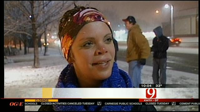 OSU Stillwater Students Talk About Snow Storm, School Being Closed