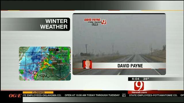 David Payne Tracking Snow Storm In Northwest Oklahoma