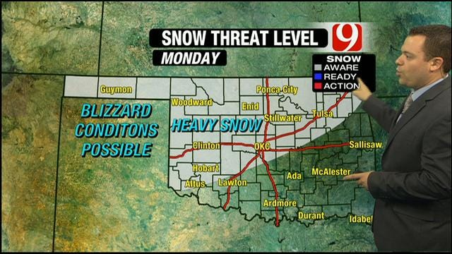 Significant Winter Storm Still On Track To Impact Oklahoma