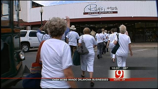 Cash Mobs Boost Oklahoma Businesses' Bottom Lines