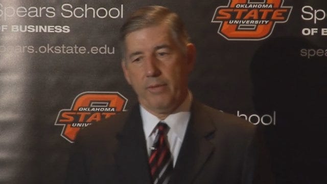 Big 12 Commissioner Bob Bowlsby Meets With Media In OKC