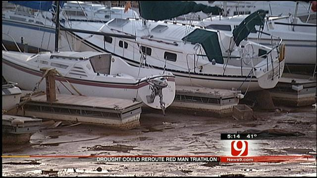 Low Water Levels May Move Red Man Triathlon From Lake Hefner