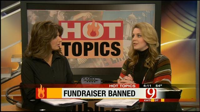 Hot Topics: Fundraiser Banned