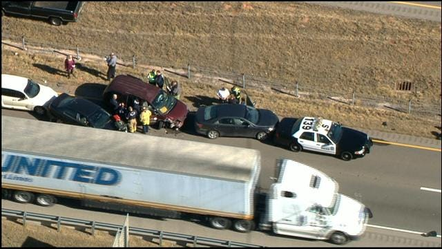 Multiple Car Pileup Involving Police Officer In SW OKC