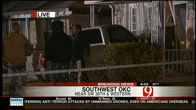 Truck Crashes Into SW OKC Home
