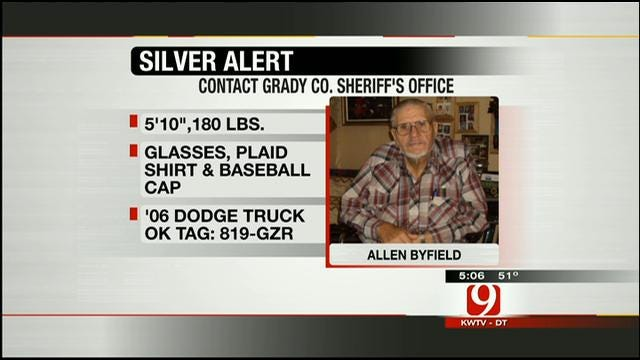 Chickasha Man At Center Of Silver Alert Spotted In Caddo County