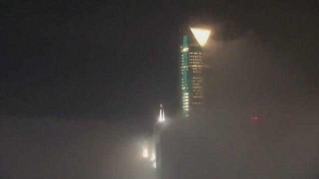WEB EXTRA: Timelapse Of Fog Shifting Across Devon Tower