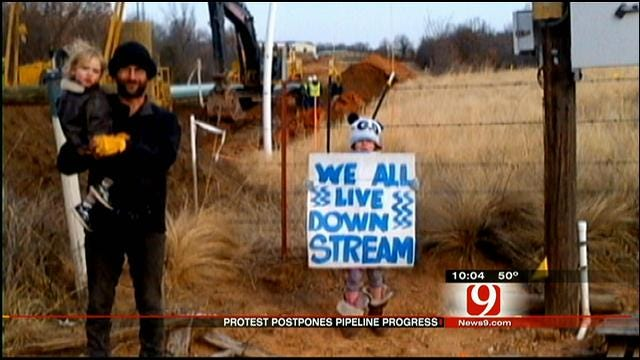 Protest Postpones Work On Keystone Pipeline Project In Okfuskee County