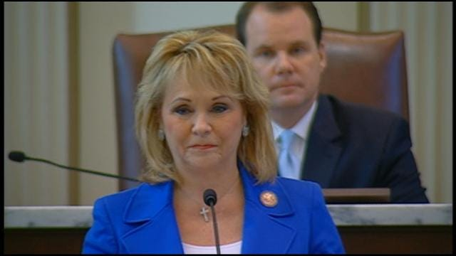 WEB EXTRA: Governor Mary Fallin's State Of State Address Part I