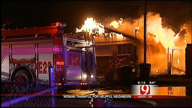 Strangers Rescue Woman From Burning NW OKC Home