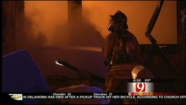 Woman Rescued From Burning NW OKC Home