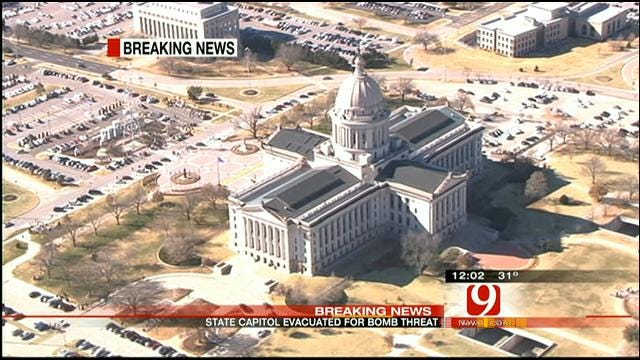 Bomb Threat Leads To Evacuation At State Capitol