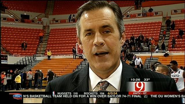 John Holcomb Wraps Up OSU's Win Over ISU