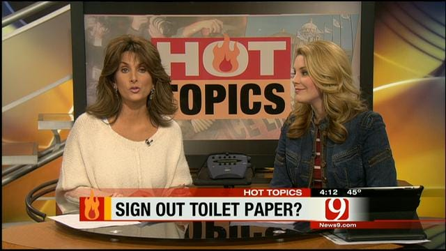 Hot Topics: Boys Forced To Sign Out Toilet Paper At School