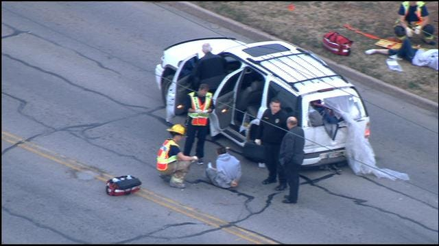 WEB EXTRA: Suspect Crashes SUV Following Police Pursuit