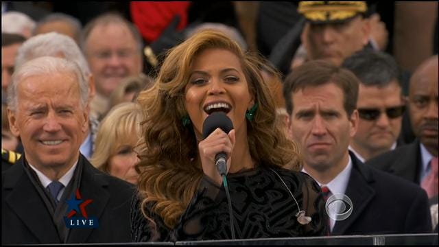 Beyonce Sings At Inauguration Ceremony