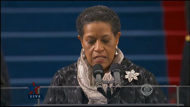 Civil Rights Leader Myrlie Evers-Williams Leads Invocation