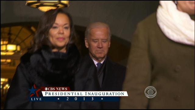 Vice President Arrives At Swearing-In Ceremony