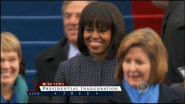 First Lady Michelle Obama Arrives At Swearing-In Ceremony