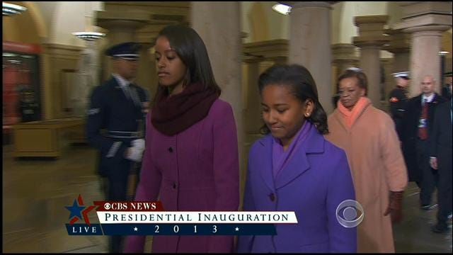 First Daughters Arrive At Presidential Inauguration