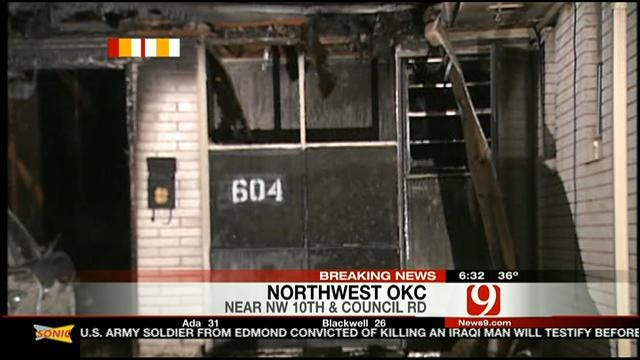 Fire Destroys NW OKC Home