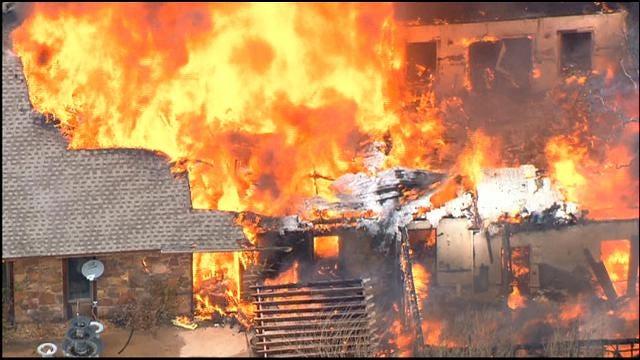 WEB EXTRA: SkyNews 9 Flies Over House Fire In NE OKC, P. II