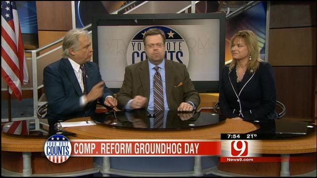 Your Vote Counts: Gun Debate, Grounding Air Doak, Counsel Objects, Comp Reform
