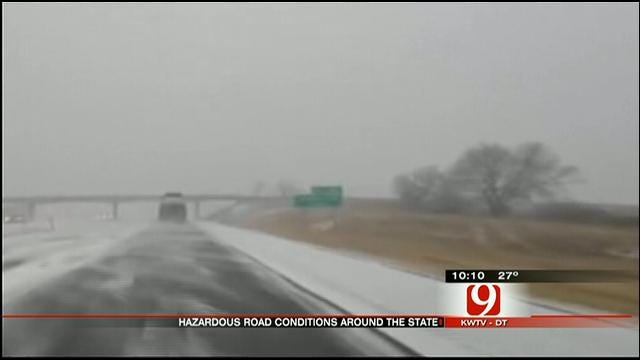 Wintery Weather Causes Travel Troubles For Some Oklahomans