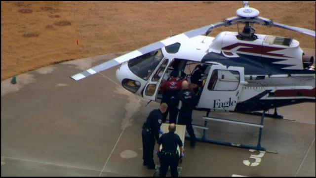 WEB EXTRA: Injured Law Enforcement Officer Arrives At Hospital