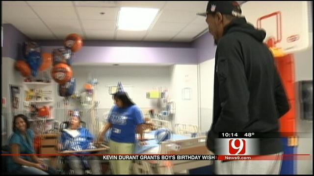 Kevin Durant Makes Disabled Boy's Birthday Wish Come True