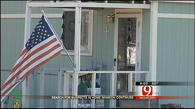 Search Continues for Suspects In Violent Home Invasion