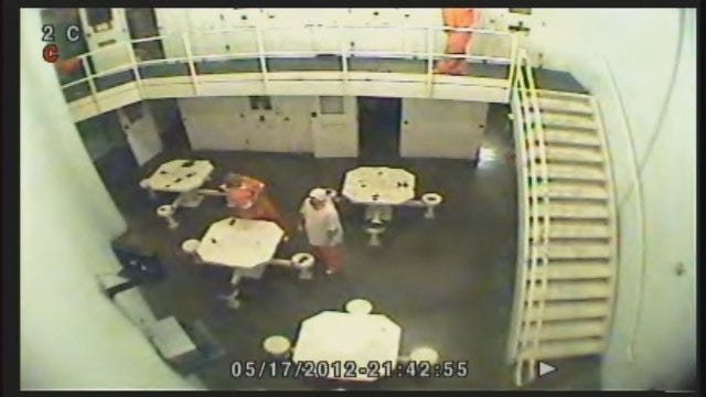 WEB EXTRA: Video Of Deadly Attack On Grady County Inmate