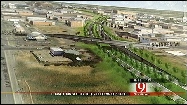 OKC Council To Vote On Design For Part Of Boulevard Project
