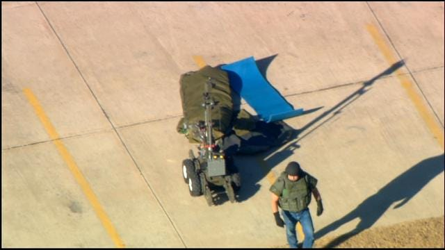 WEB EXTRA: Bomb Squad Opens Suspicious Package In Bethany